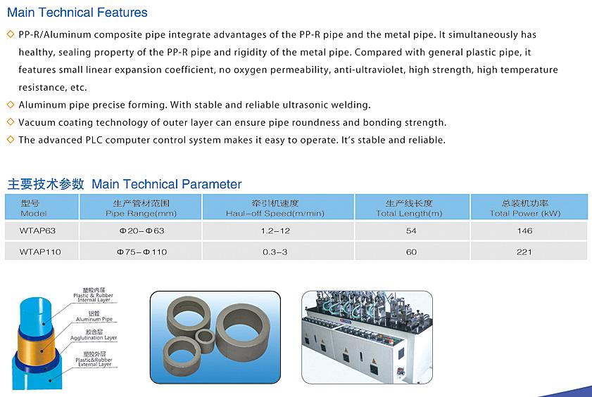 PPR Aluminum Pipe Extrusion Line