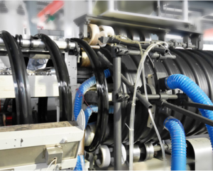 reinforced pipe extrusuion line