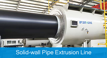 solid wall pipe extrusion line